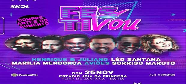 FestiVou será realizado dia 25 com grandes shows.