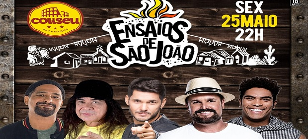 Ensaio Estakazero: Adão Negro, Denny Denan e Zelito Miranda.