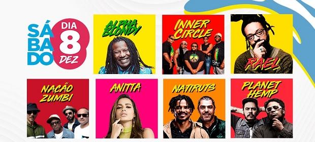 #FV18: Reggae e pop agitam o sábado, dia 8 de dezembro.