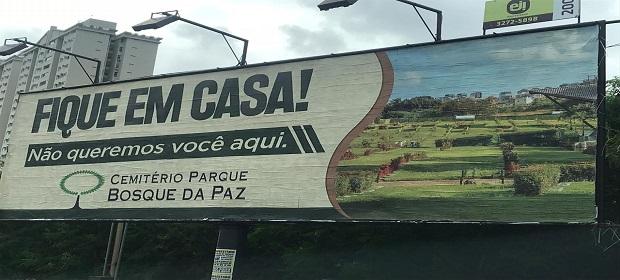 Cemitério Parque Bosque da Paz viraliza campanha de conscientização.