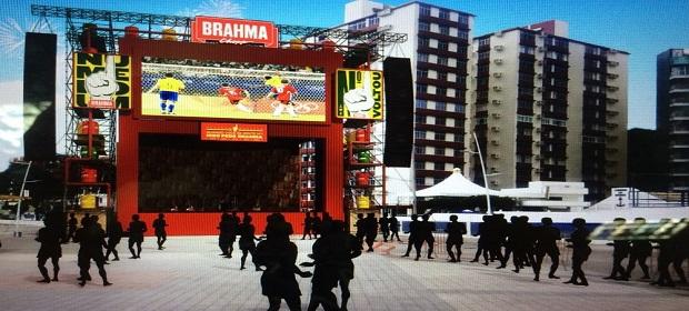 Arena Brahma Nº1 prepara superestrutura para transmitir jogos.