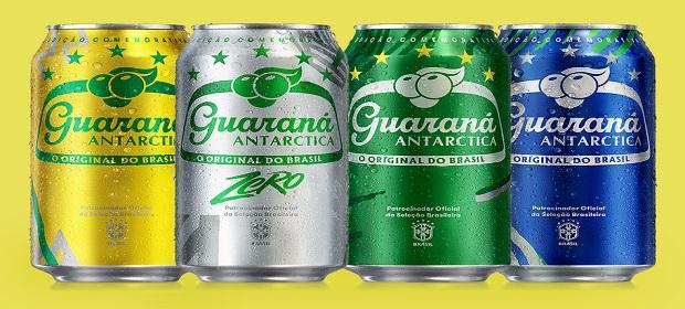 Guaraná Antarctica celebra brasilidade com cores do Brasil.