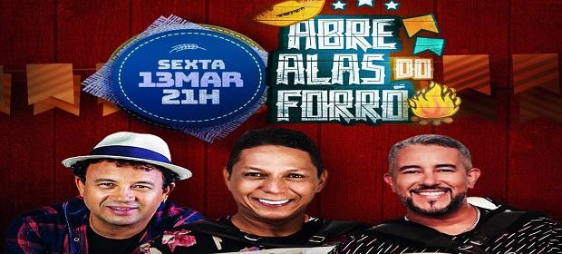 Targino Gondim recebe Flor Serena no 'Abre Alas do Forró' em Salvador.