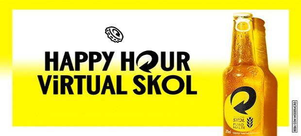 Skol cria solução para manter o tradicional happy hour.
