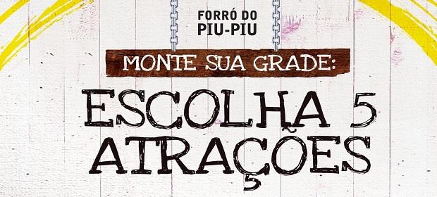 Forró do Piu-Piu lança pesquisa para escolha da grade de atrações.
