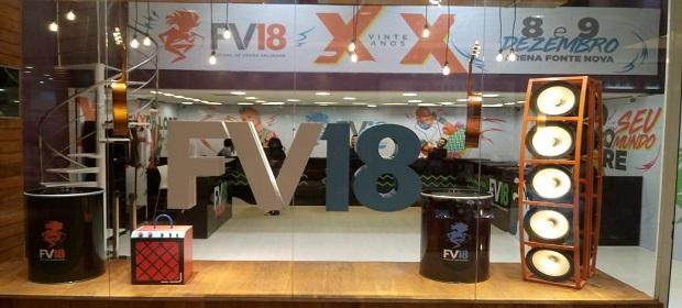 Loja do #FV18 revela clima da festa de 20 anos.