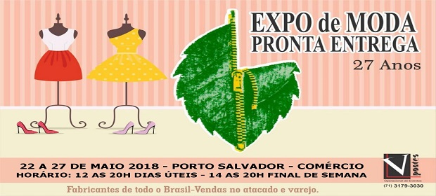 Expo de Moda começa nesta terça (22) no Porto de Salvador.