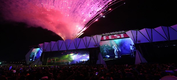 Salvador Fest: Léo Santana agitou multidão este domingo.