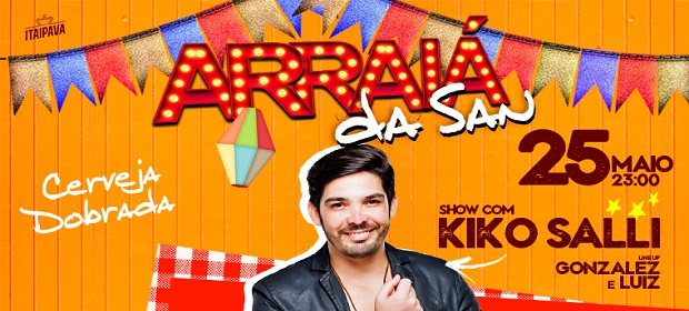 Arraiá da San com Kiko Salli abre fim de semana da San Sebastian.
