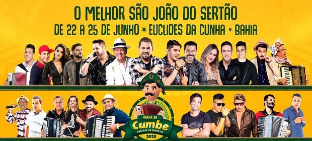 São João 2018: Euclides da Cunha anuncia programação oficial.