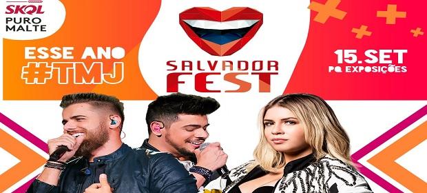 Zé Neto e Cristiano e Marília Mendonça no Salvador Fest 2019.