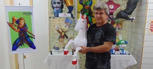Exposição de Esculturas 3D e Oficinas em Papercraft